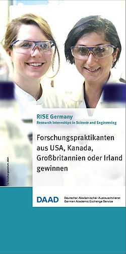 RISE Germany - Forschungspraktikanten aus USA, Kanada, Großbritannien oder Irland gewinnen