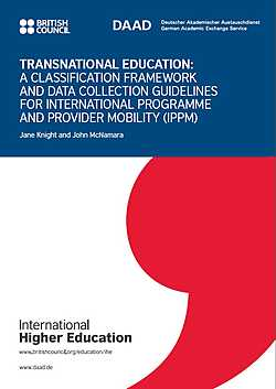 Transnational Education. A classification framework and data collection guidelines for international programme and provider mobility (IPPM) (2017)