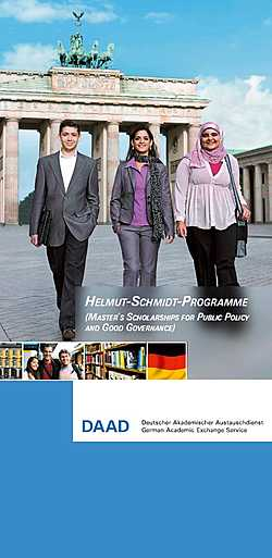 Helmut-Schmidt-Programme (Master´s Scholarships for Public Policy and Good Governance)