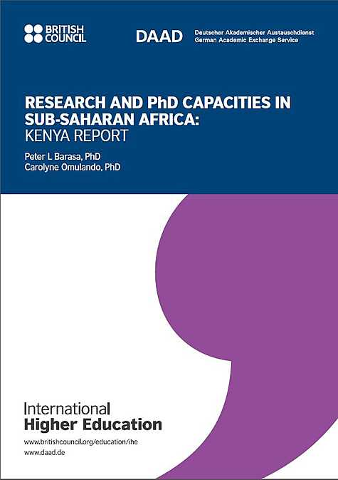 International Higher Education: Research and PhD Capacities in Subsaharan Africa: Kenya  Report (2018)