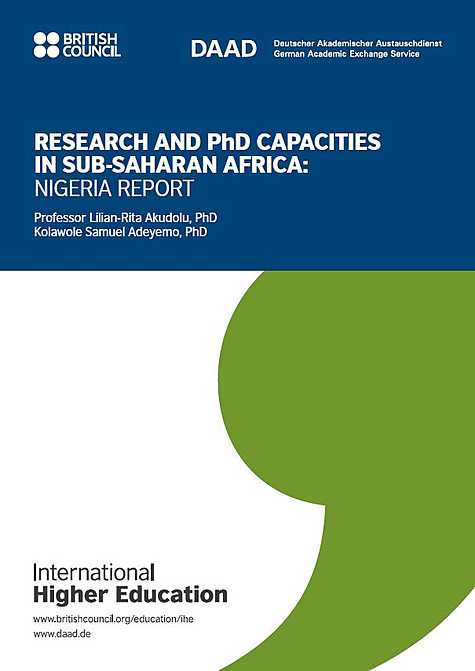 International Higher Education: Research and PhD Capacities in Subsaharan Africa: Nigeria Report (2018)