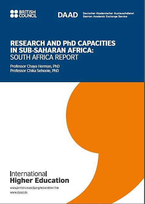International Higher Education: Research and PhD Capacities in Subsaharan Africa: South Africa Report (2018)