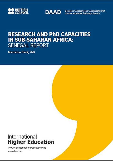 International Higher Education: Research and PhD Capacities in Subsaharan Africa: Senegal Report (2018)