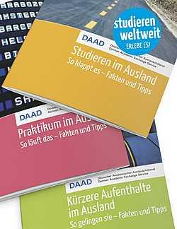 DAAD-Publikationen zu Studium, Praktikum und kürzeren Aufenthalten im Ausland